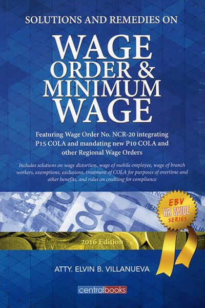 ebook solutions and remedies on wage order and minimum wage lvs rich publishing. Black Bedroom Furniture Sets. Home Design Ideas