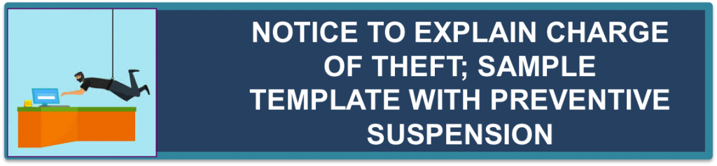 Notice To Explain Theft With Preventive Suspension (Filipino/Tagalog